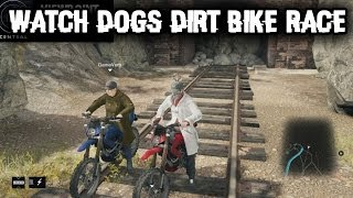 Watch Dogs Multiplayer Gameplay: DIRT BIKE RACE! Online Free Roam Funny Moments! PS4, Xbox One