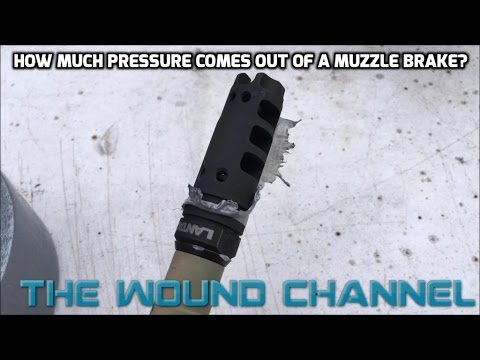 How Much Pressure Comes Out Of A Muzzle Brake Port?