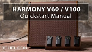 Harmony V60/V100 Amps Quickstart Manual