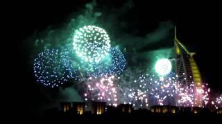Welcome 2011 - Fireworks at Burj al Arab