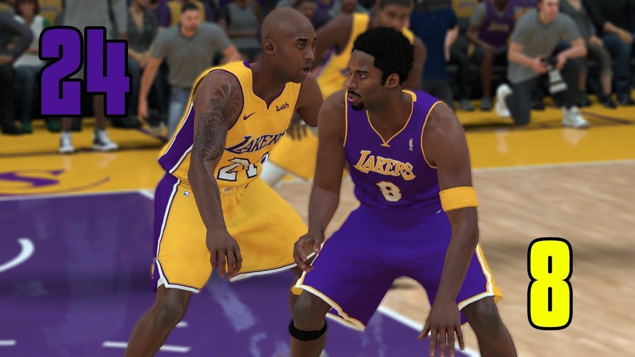 huge selection of a7f55 554cf #24 Kobe Bryant vs #8 Kobe Bryant! Which Kobe Is Better? NBA 2K18 Challenge!