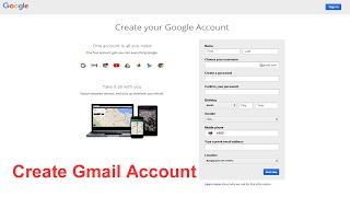 So Erstellen Sie ein Gmail-Konto l Wie man Google Mail-Konto l so Erstellen Sie ein Gmail-Konto 2017