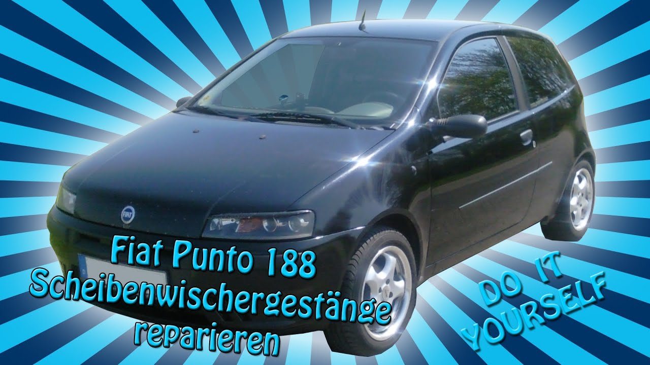fiat punto 188 scheibenwischergest nge reparatur youtube. Black Bedroom Furniture Sets. Home Design Ideas