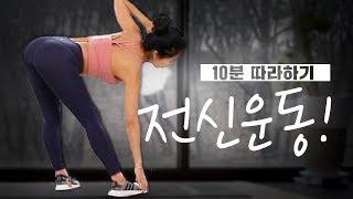 실내 전신운동 초보 버전 (미세먼지, 실내에서 운동해요…