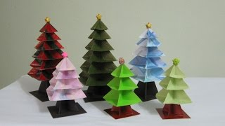 TUTORIAL -  Origami Christmas Tree (Re-make)