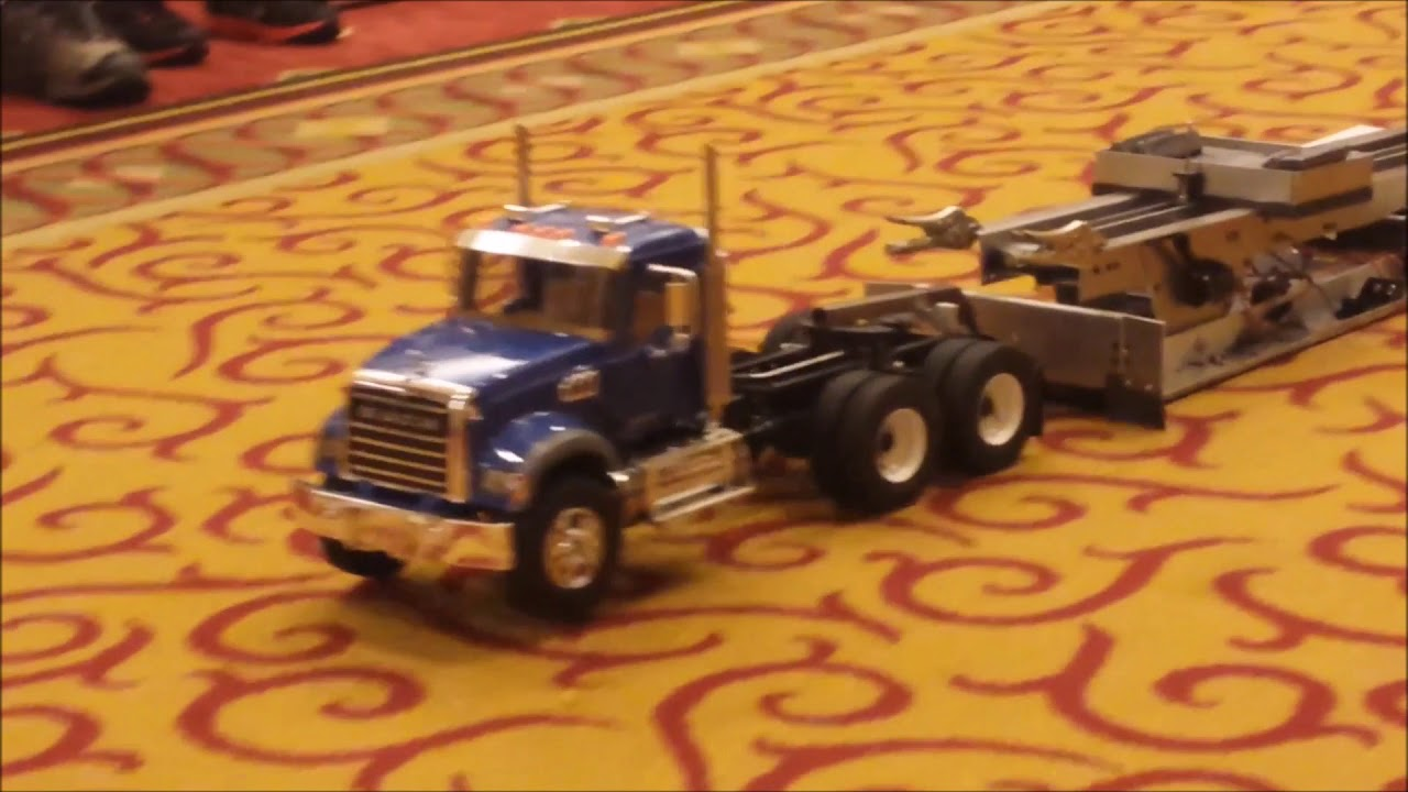 RC semi truck sled pull INDY 2015