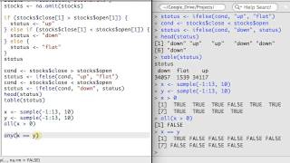 R 2.3 - if() Statements, Logical Operators, and the which() Function