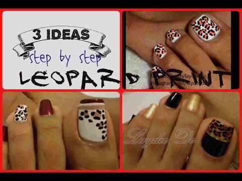 3 Ideas Leopardo Decoración De Uñas Para Los Pies 3 Easy Toe Nail Art Leopard Print