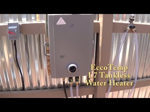 Eccotemp L7 Installed in my Off Grid Triple S Bath House.