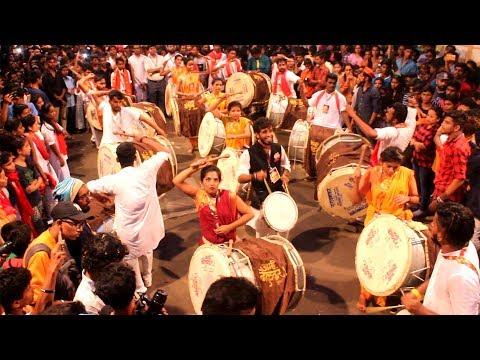 Aamhi Dholkar Dhol Tasha Pathak at Girgaon cha Raja 2017 Padya Pujan Sohala