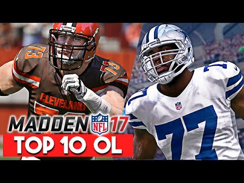 Madden 17 News | Top 10 Offensive Lineman Ratings - Tyron Smith/Joe Thomas  97 OVR!
