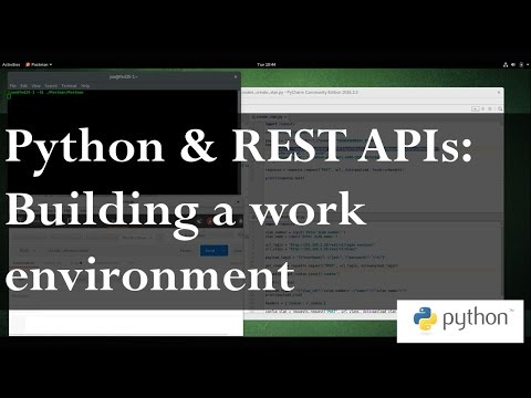 Python and REST APIs 1: Building a work environment