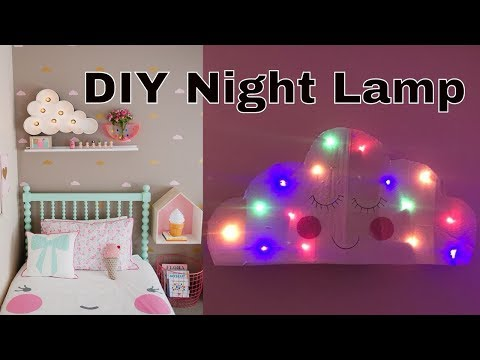 DIY Cloud Lamp ☁ Cardboard Craft | DIY Room Ideas For Kids | Pinterest/Instagram Inspiration