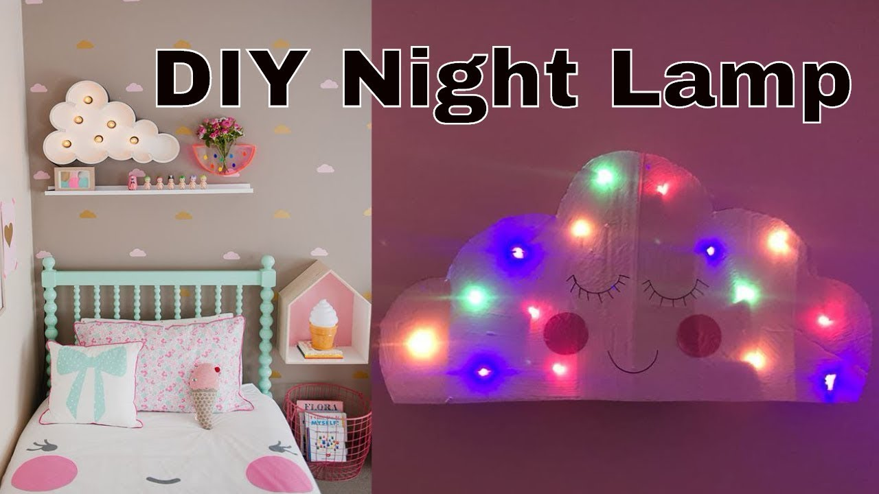 Diy Cloud Lamp Cardboard Craft Diy Room Ideas For Kids
