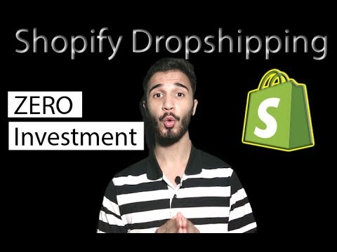 How To Drop Ship With No Investment | Shopify Dropshipping From 0$