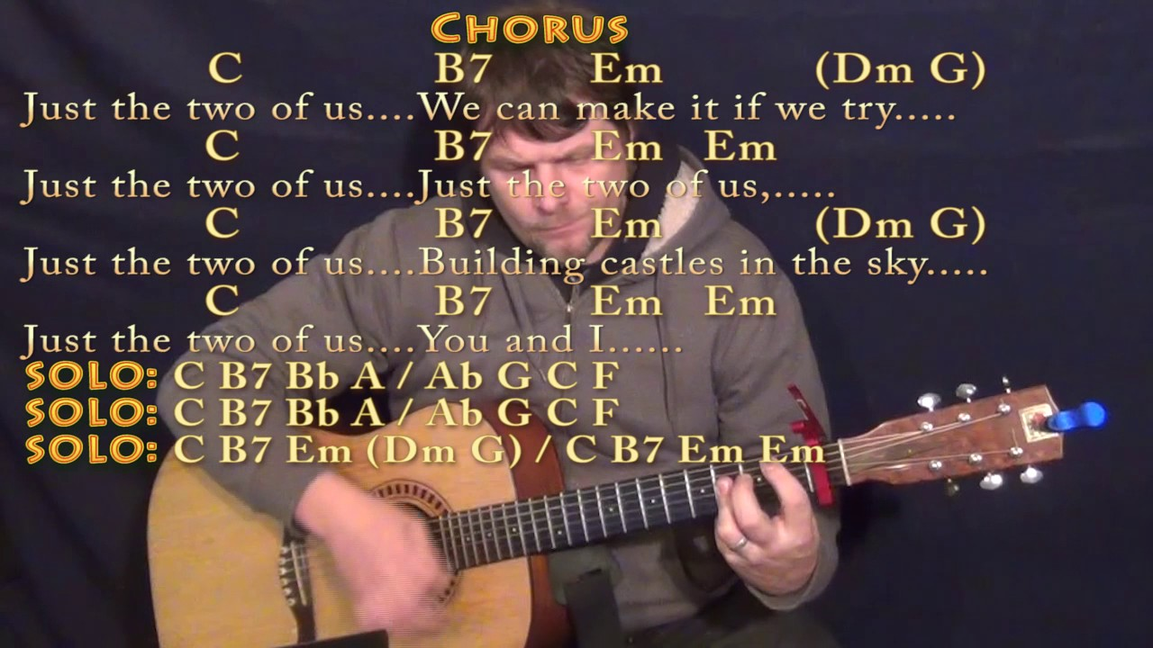 Just The Two Of Us Bill Withers Guitar Lesson Chord Chart With