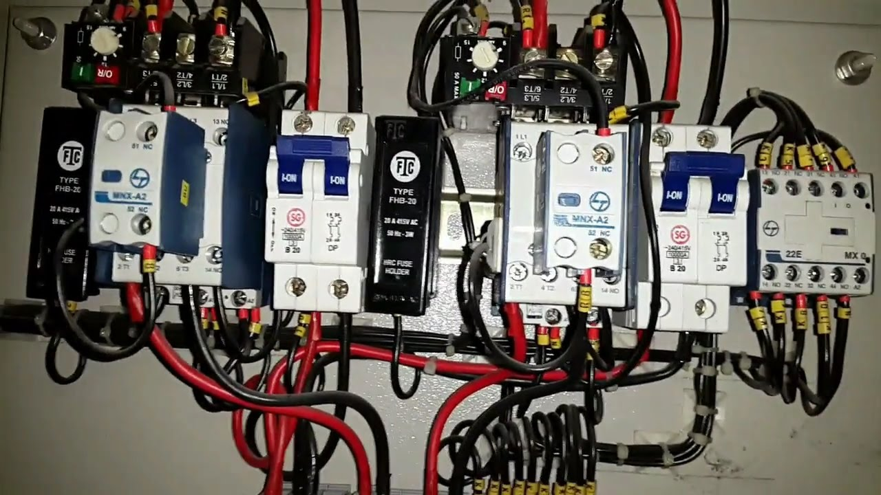 3HP single phase motor starter panel type 2 Electrical videos in ...