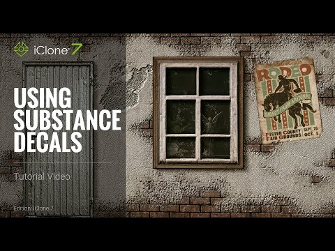 iClone 7 Tutorial - Using Substance Decals