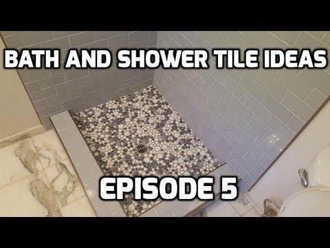 Bath & Shower Tile Ideas EPISODE 5 Pebble Shower Pan