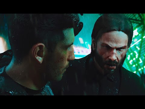 JOHN WICK Vs. THE PUNISHER | EPIC Fight Scene (Keanu Reeves Vs. Jon Bernthal)