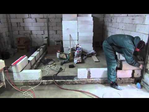 Как сделать перегородку из газобетонных блоков своими руками