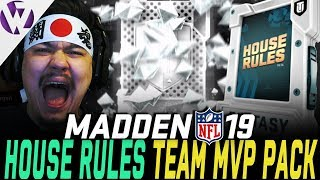 FREE TEAM MVP! HOUSE RULES HIGHLIGHTS! - Madden 19 Pack Opening