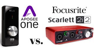 In this video, Robert compares the Apogee ONE and Focusrite Scarlet...