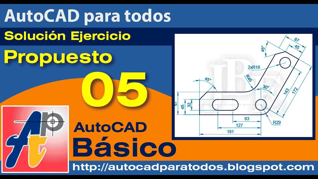 Solución Ejercicio Propuesto 05 - AutoCAD Básico