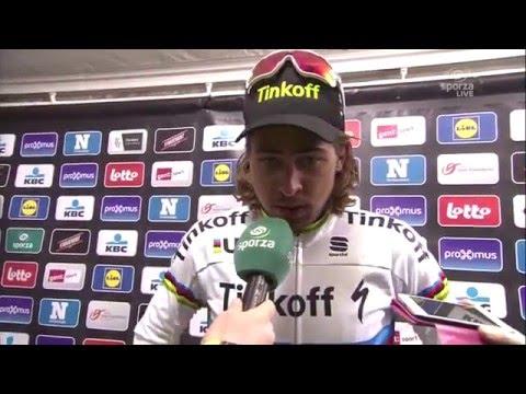 Omloop Het Nieuwsblad 2016 - Interview Peter Sagan after the race