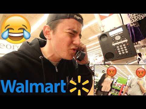 Sex Noises On The Walmart INTERCOM **COPS** (KICKED OUT)