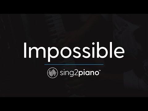 Impossible (Piano Karaoke Instrumental) James Arthur