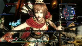 Dynasty Warriors 8 Sun Shang Xiang Gameplay with DLC Outfit Battle of Chi Bi (Chaos Difficulty)