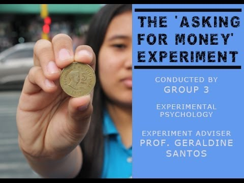 Asking for Money: A Social Experiment (Philippine Setting)