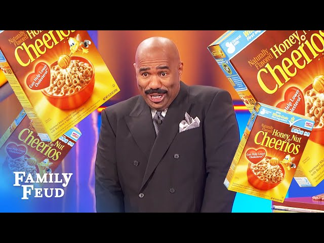 Steve loves THIS breakfast cereal name for a stripper! | Family Feud