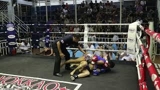 Xristina-Romina PhuketTopTeam vs Petchpailin Thailand Muay Thai fight 16 Nov 2018