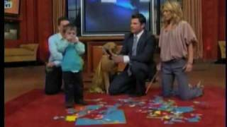 2 year old geography whiz kid genius on live with regis and kelly nomintaed for a relly award
