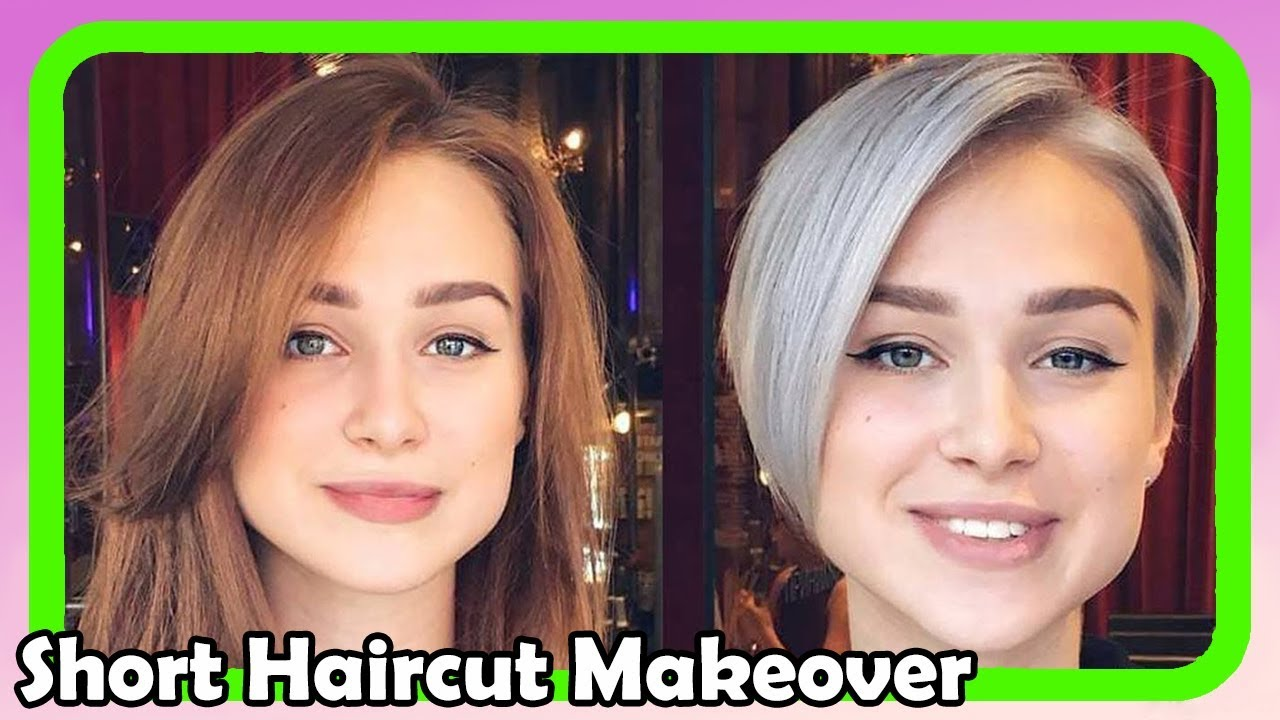 beautiful short haircut makeover #6 ● extreme hair makeover ● hairstyles 2018