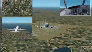 Flight simulator 2002 gameplay from schiphol to texel