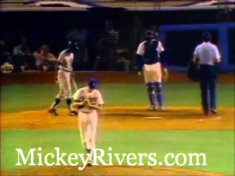 Mickey Rivers in Game 6 of the 1978 World Series
