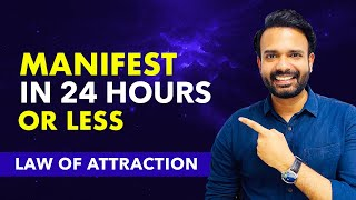 FAST RESULT ✅24 HOURS LAW OF ATTRACTION MANIFESTATION TECHNIQUE - Attract What You Want in 24 Hours