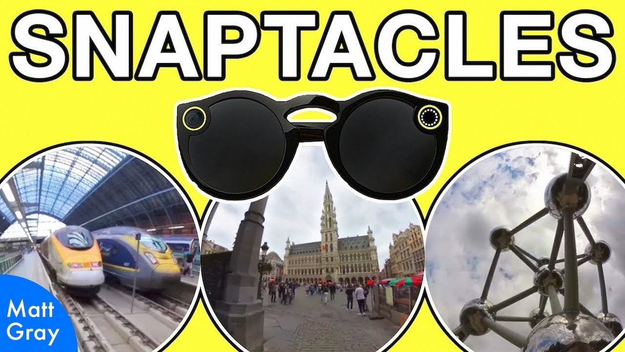 Youtube Thumbnail Image: Snaptacles: Eurostar Trip to Brussels Wearing Snapchat Spectacles