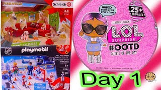 Day 1 ! LOL Surprise - Playmobil - Schleich Animals Christmas Advent Calendar - Cookie Swirl C