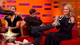 Margot Robbie TATTOOS One of the Production Staff! | The Graham Norton Show thumbnail