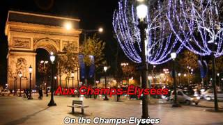 Joe Dassin - Les Champs Elysées - lyrics paroles karaoke