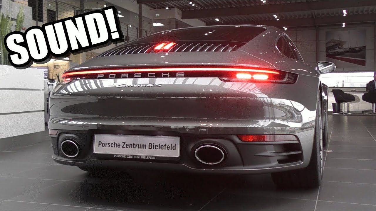 BRAND NEW 2019 Porsche 992 Carrera 4S - SOUND, START UP, REVS & DETAILS!