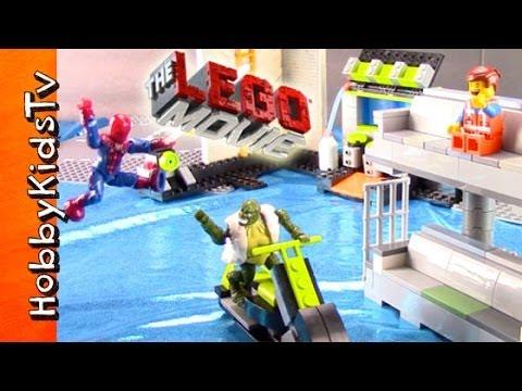 Lego The Movie Emmet And Spiderman Adventure Hobbykidstv Youtube