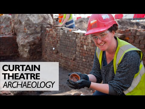 Curtain Theatre Archaeological Dig