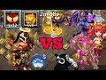 Castle clash | 12 skill Michael | 8 tenacity | vs 15 top heroes | no pets or artifacts