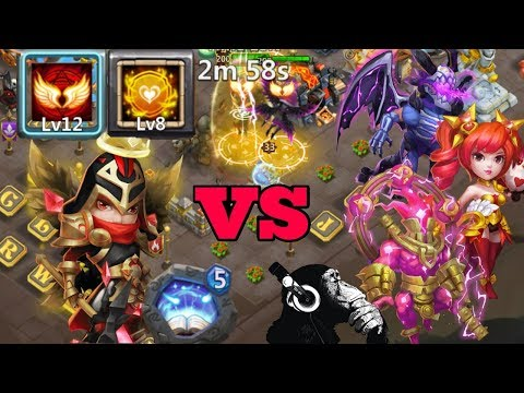 Castle Clash | 12 Skill Michael | 8 Tenacity | Vs 15 Top Heroes | No Pets Or Artifacts