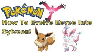 Pokemon X And Y - 3DS XL - How To Evolve Eevee Into Sylveon!